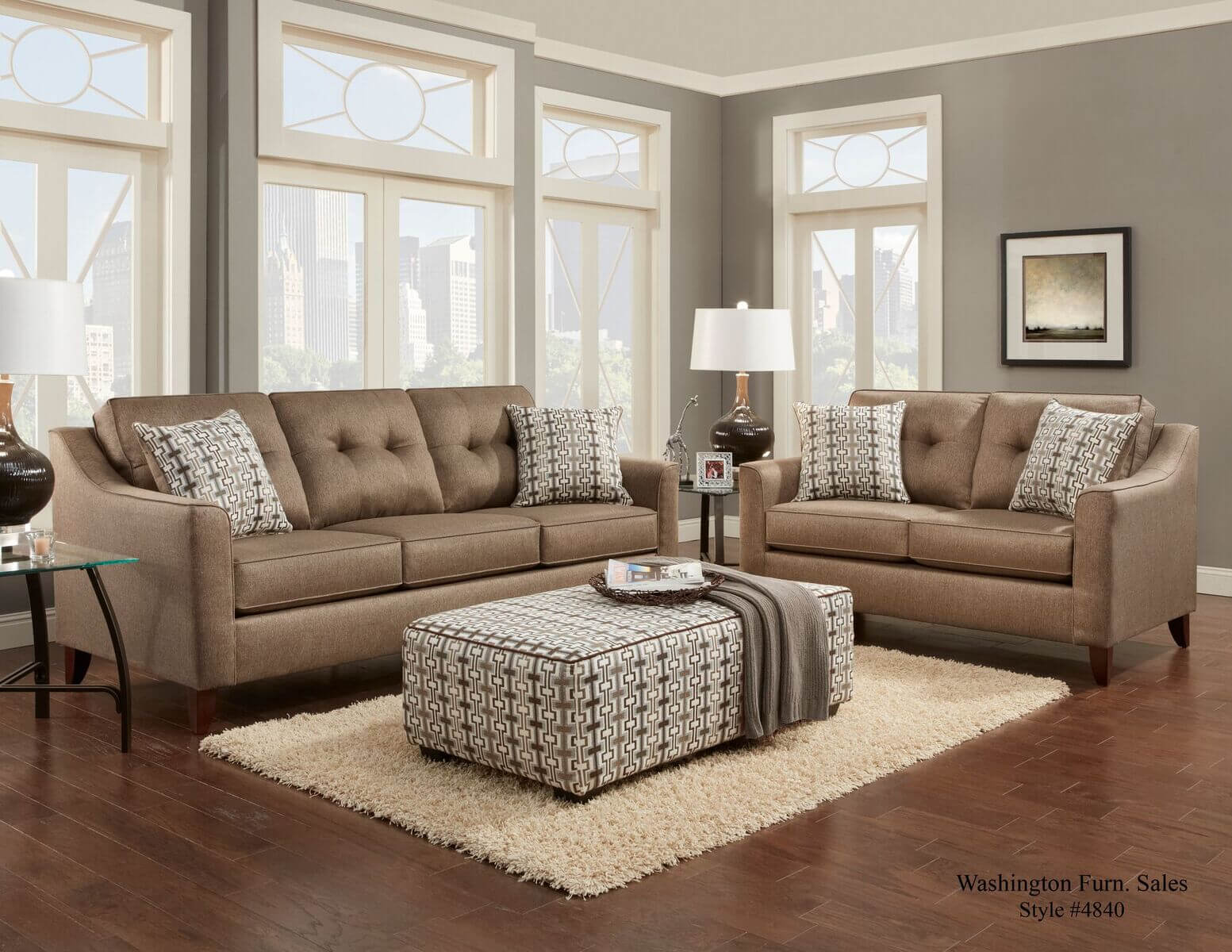Stoked Oatmeal Sofa And Loveseat Sectional Sofa Sets