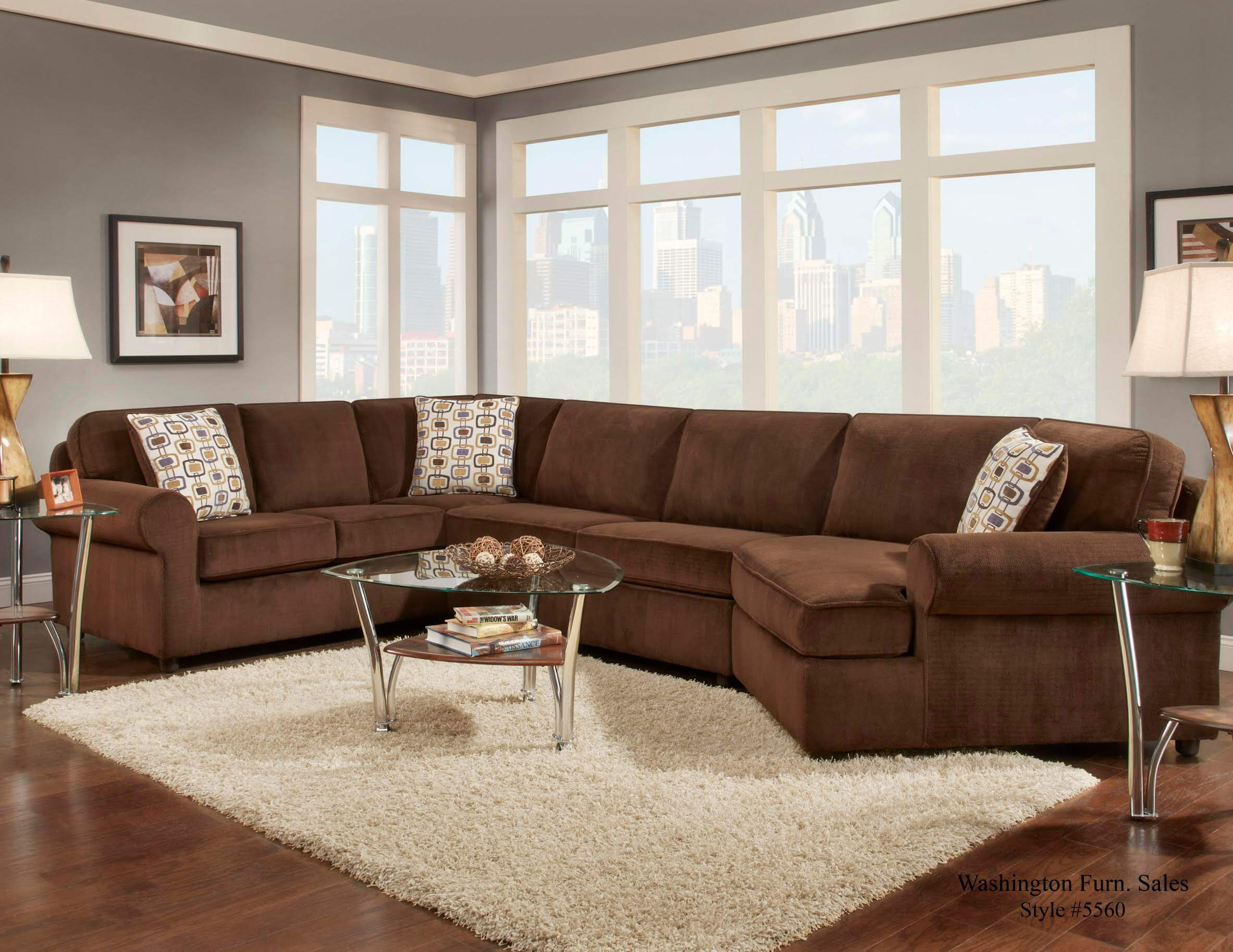 Dynasty Chocolate Sectional By Washington Sectional Sofa Sets
