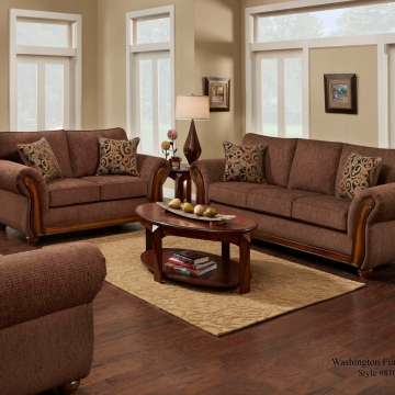 Washington Delray Fudge Sofa and Loveseat
