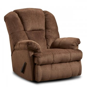 Hillel Chocolate Rocker Recliner by Washington