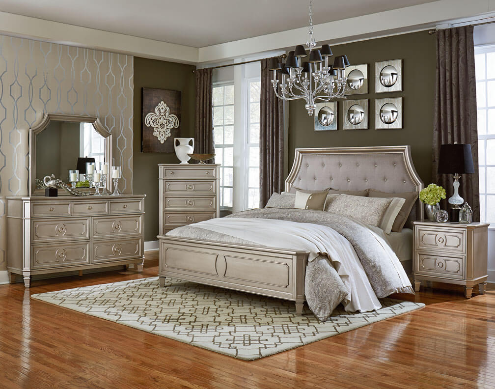 windsor silver bedroom set bedroom furniture sets 11616 | std87300 windsor silver main