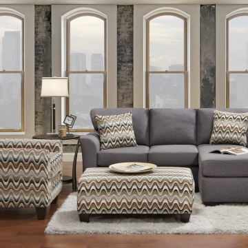 Cosmopolitan Grey Sectional