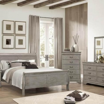 Grey Louis Philip Bedroom Set