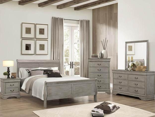 Grey Louis Philip Bedroom Set Bedroom Furniture Sets