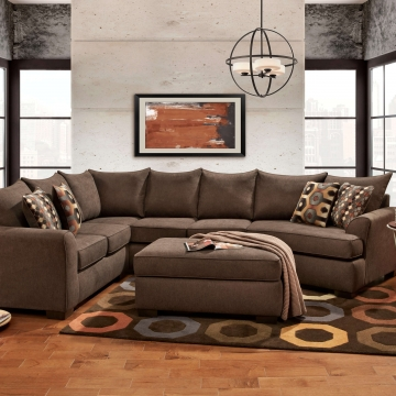Essence Earth 3 pc Cuddler Sectional