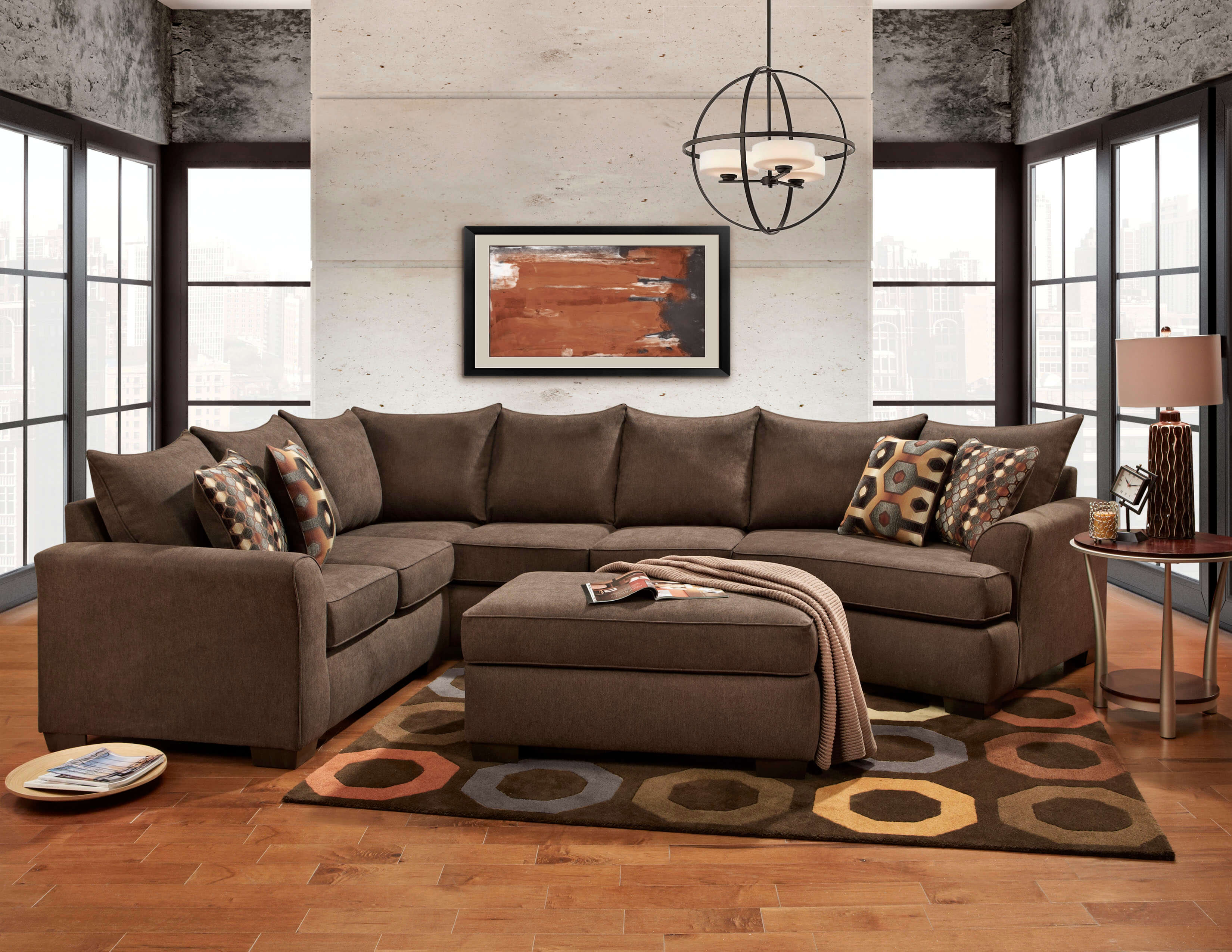 right furniture pin cuddler couch with patola by piece ashley sectional park patina