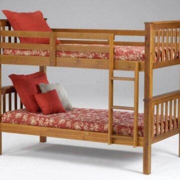 Bernards Brown Cherry Bunk Bed