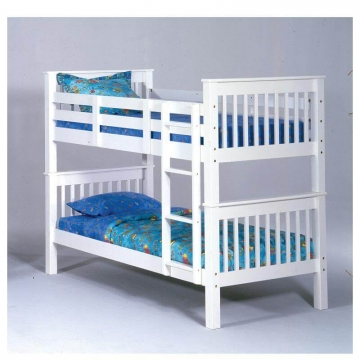 Bernards White Wood Bunk Bed