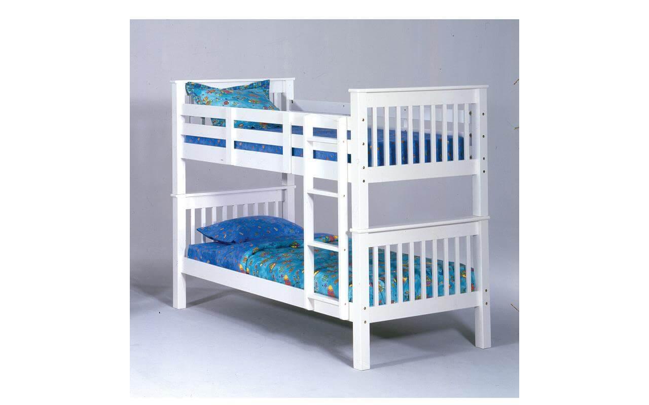 Bernards White Wood Bunk Bed Kids Bunk Beds