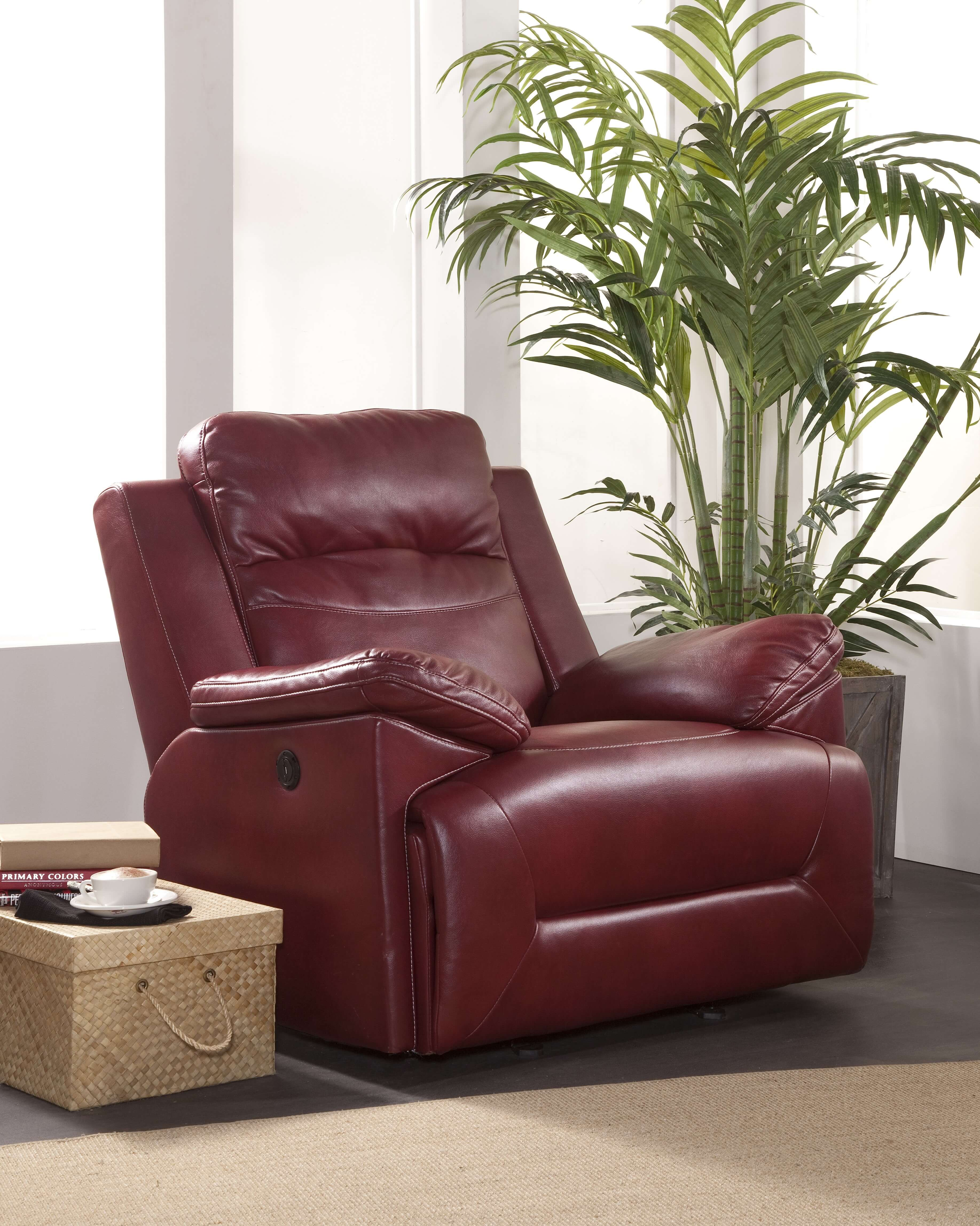 Cortez Red Reclining Sofa And Glider Loveseat Set Living
