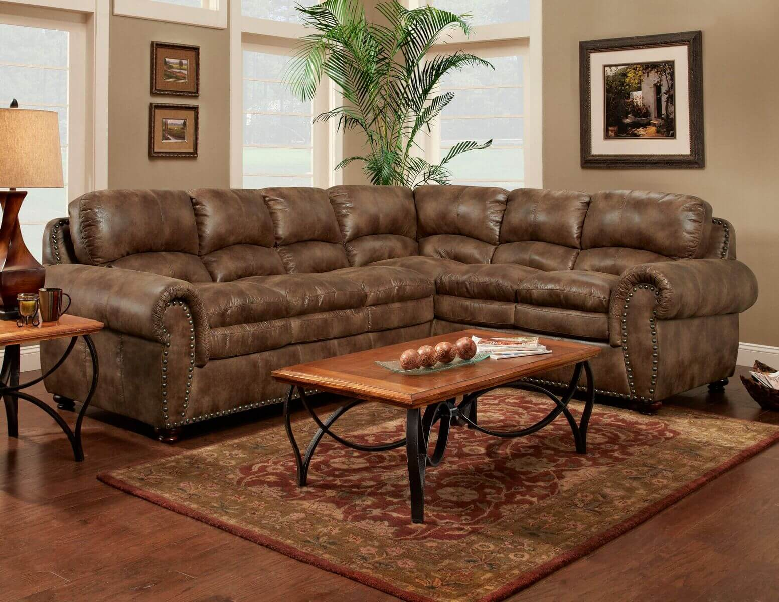 Washington Padre Espresso Sectional Sectional Sofa Sets