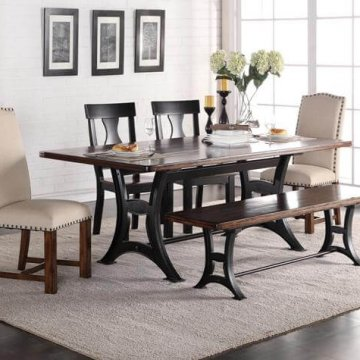 Astor Dining Set with Parson Chairs