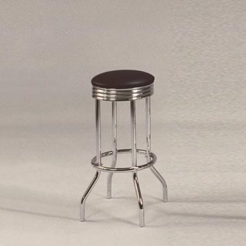 Crown Mark 24″ Chrome Swivel Stools