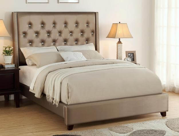 Fontaine Gold Tufted Bed
