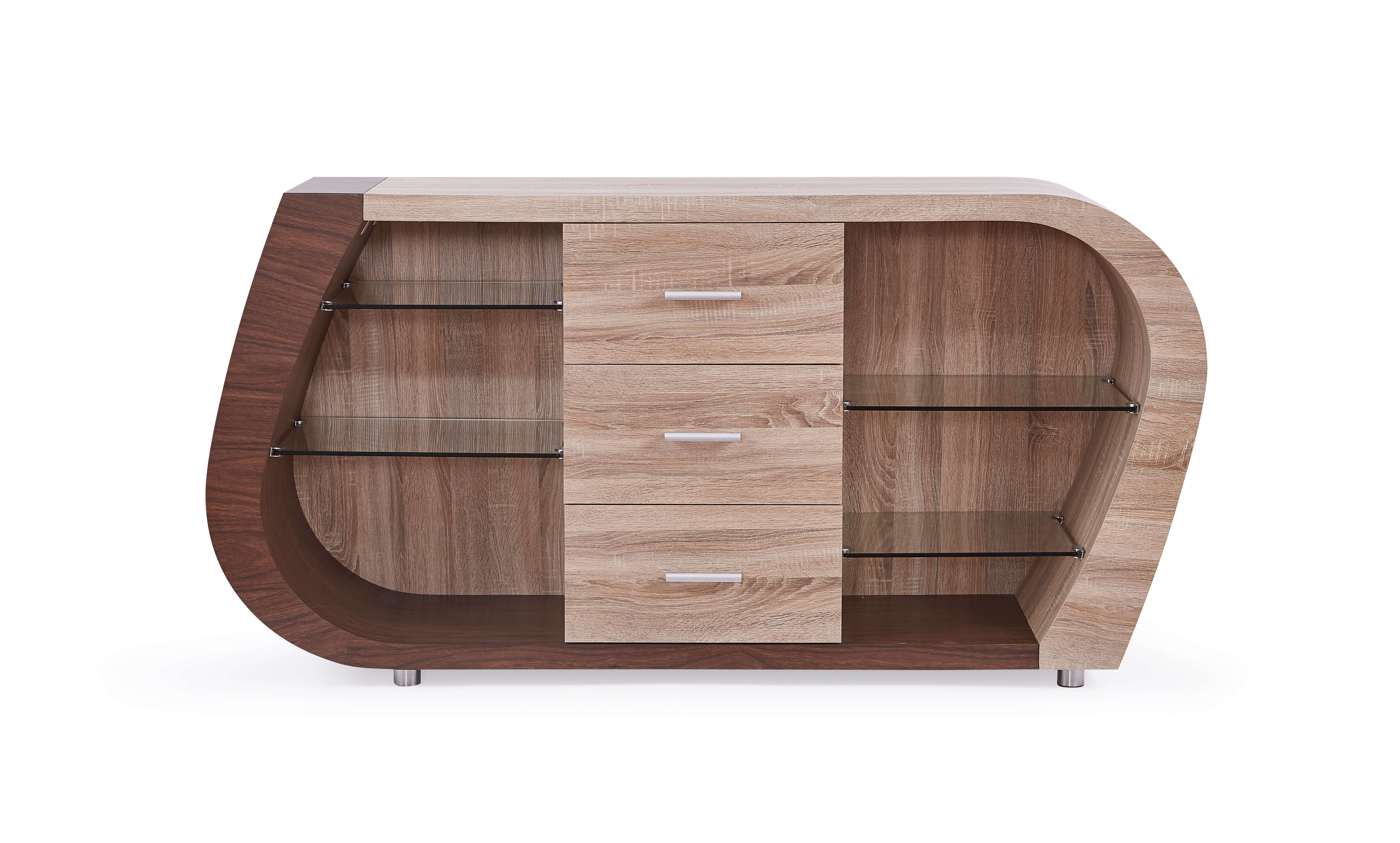 Oak and Walnut Buffet by Global Furniture USA
