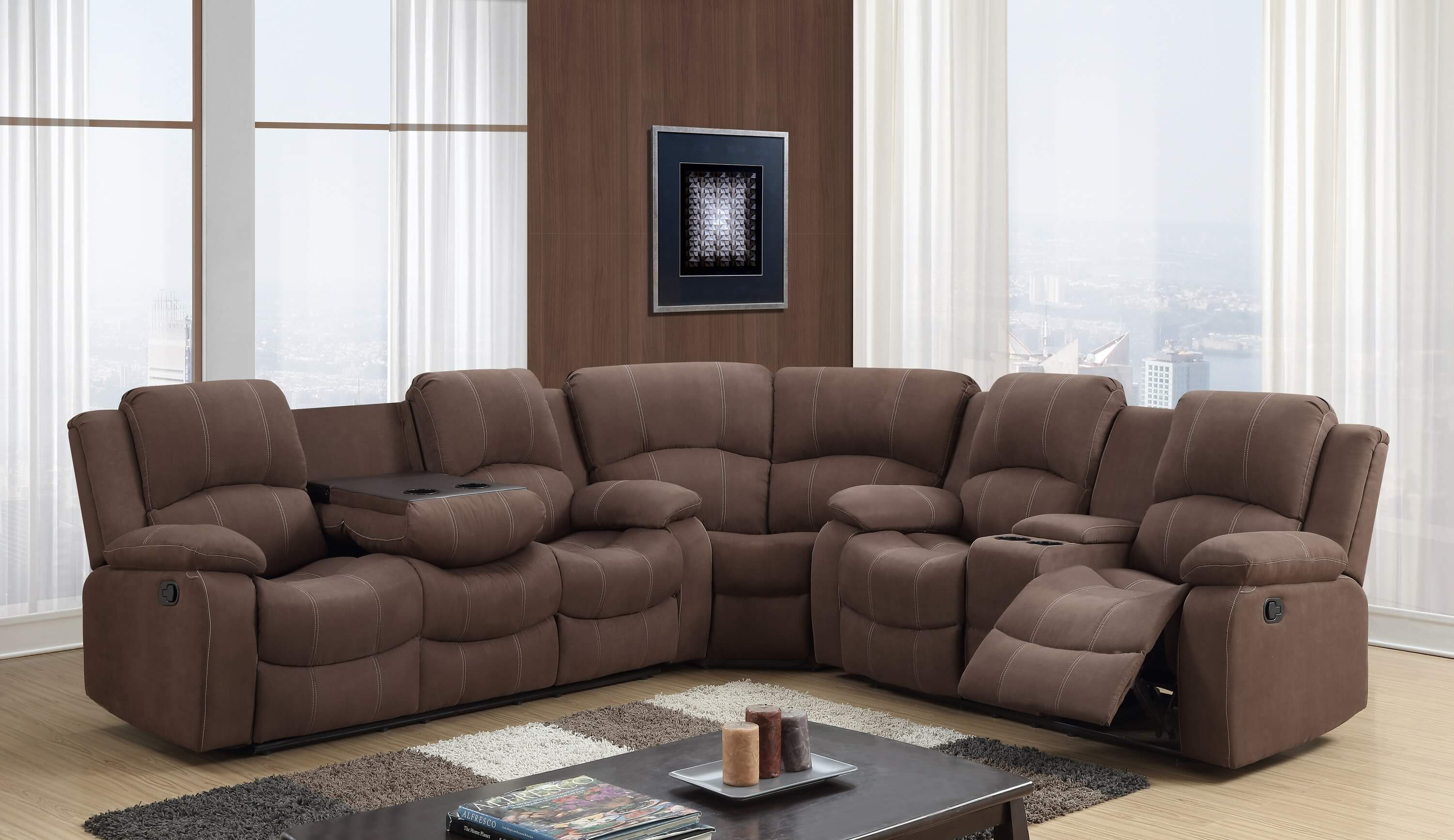 reviews leather reclining sacramento sectional pdx amax wayfair recliner furniture