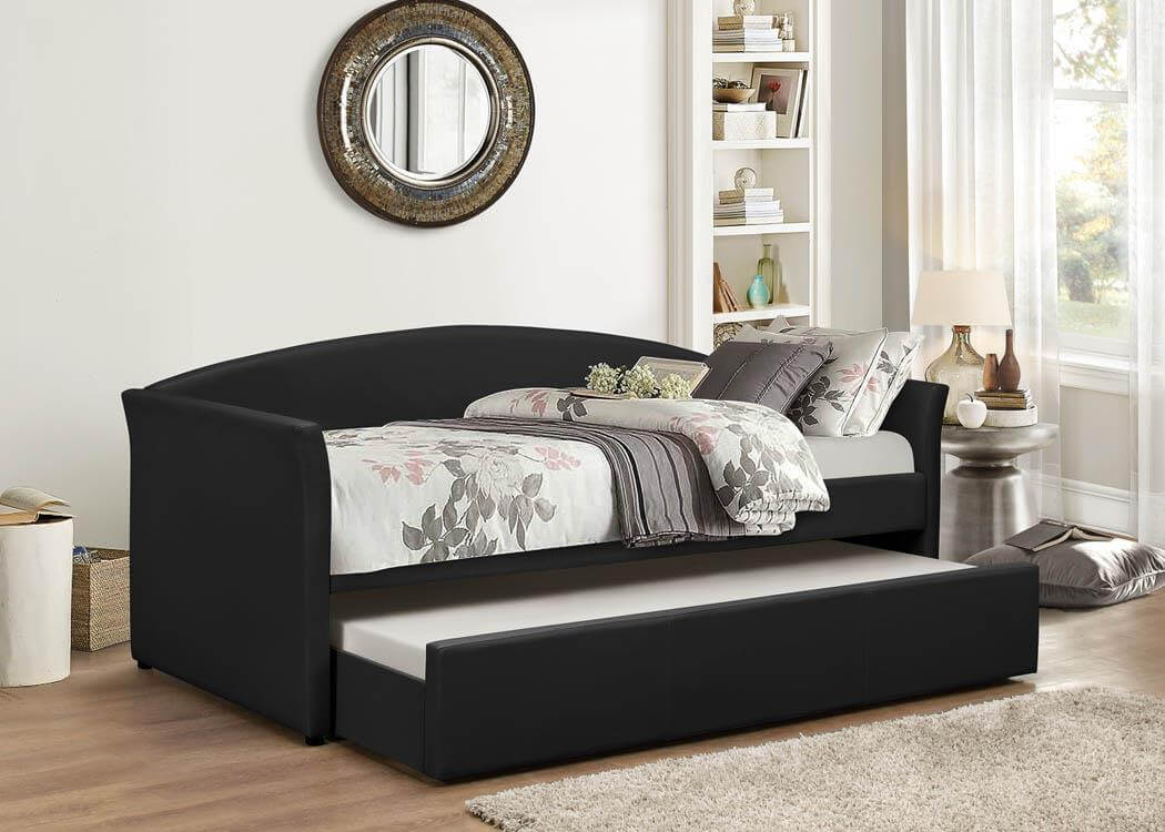 Black Day Bed With Trundle Bed Kids Beds