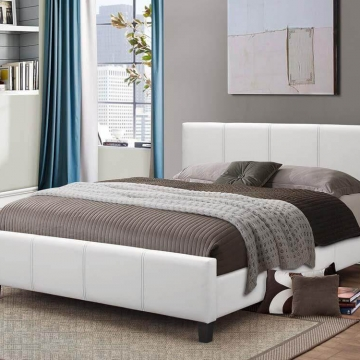 White Platform Style Bed