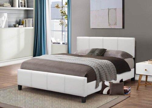 White Platform Style Bed