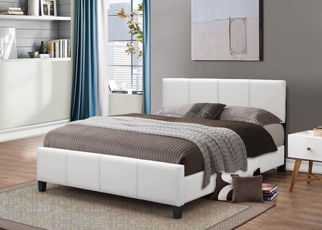 white platform style bed kid s beds 12918 | gltb640
