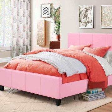 Pink Platform Style Bed