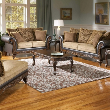 Serta Splurge Chocolate Sofa and Loveseat