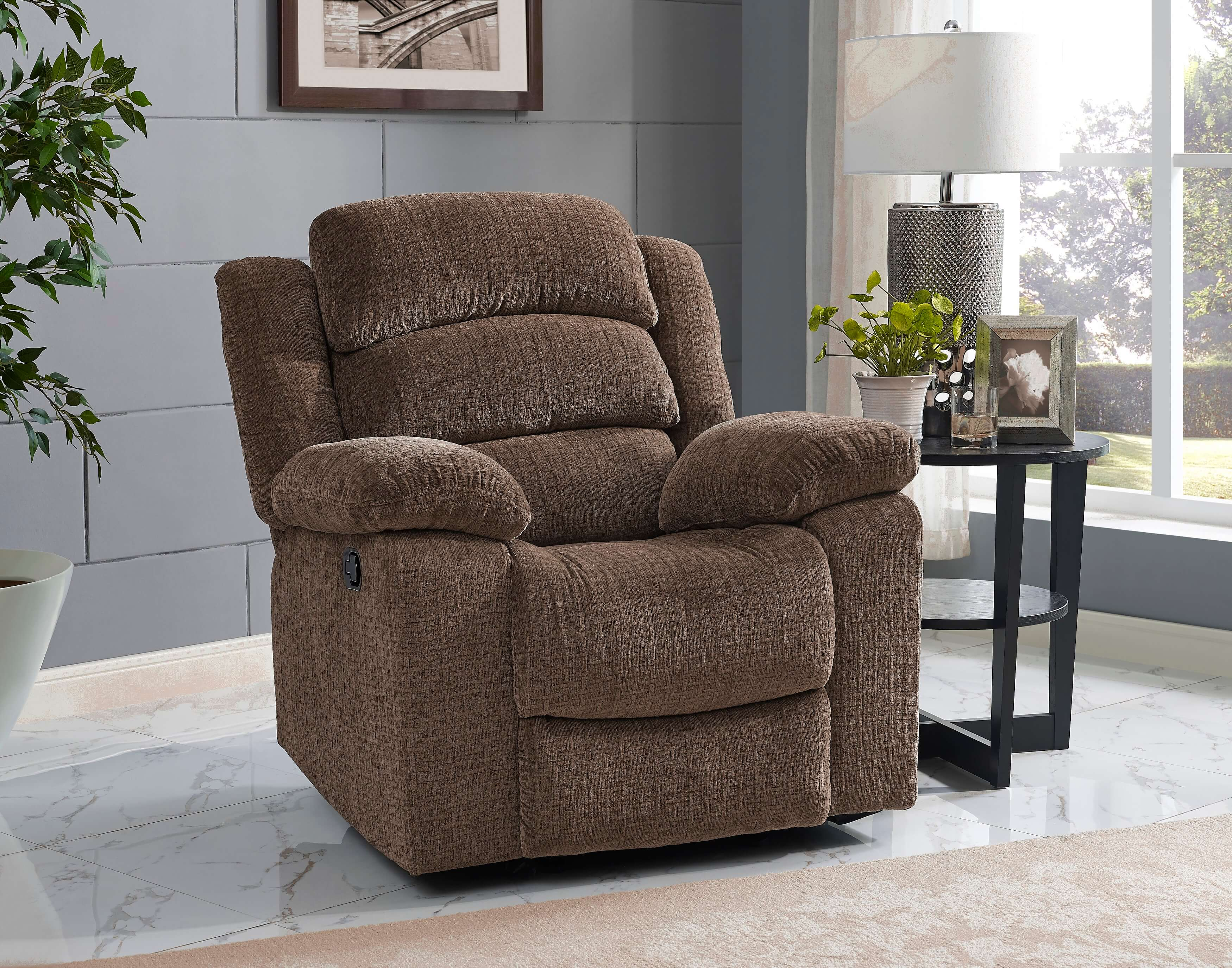Austin Chocolate Reclining Sofa And Loveseat