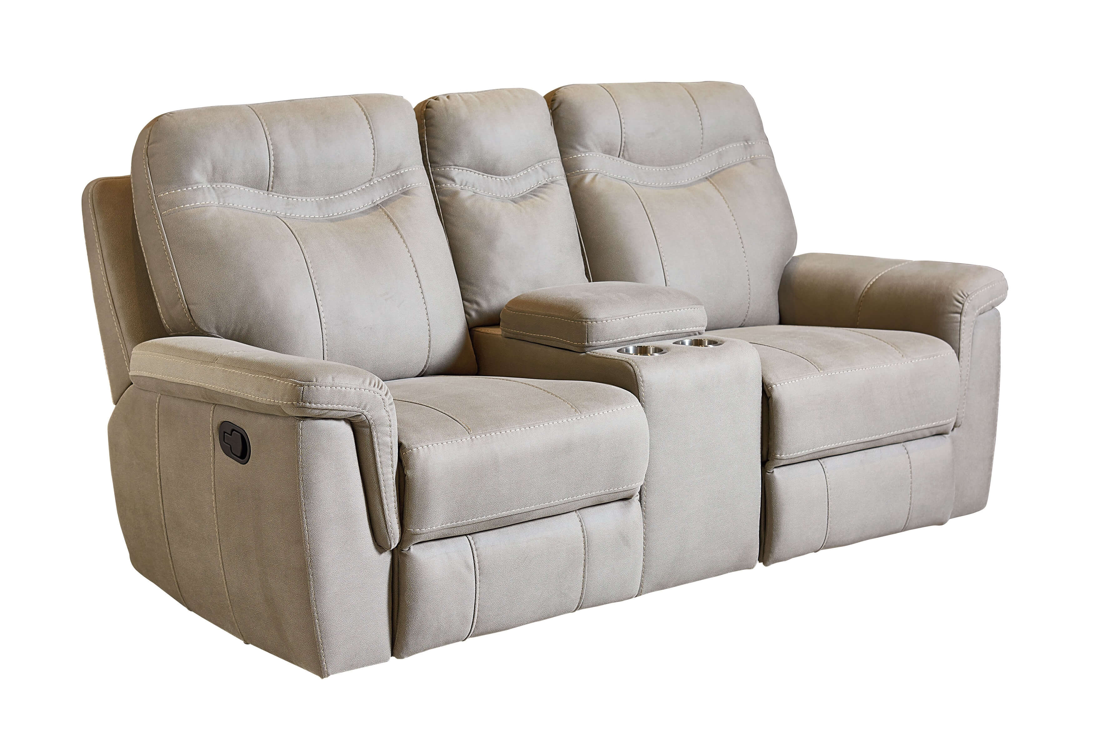 Boardwalk Stone Reclining Sofa and Loveseat by Standard Furniture
