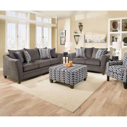Albany Slate Sofa and Loveseat