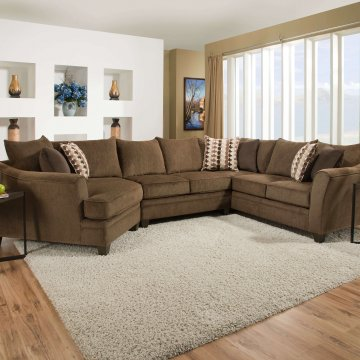 Albany Chestnut Sofa and Loveseat by Simmons