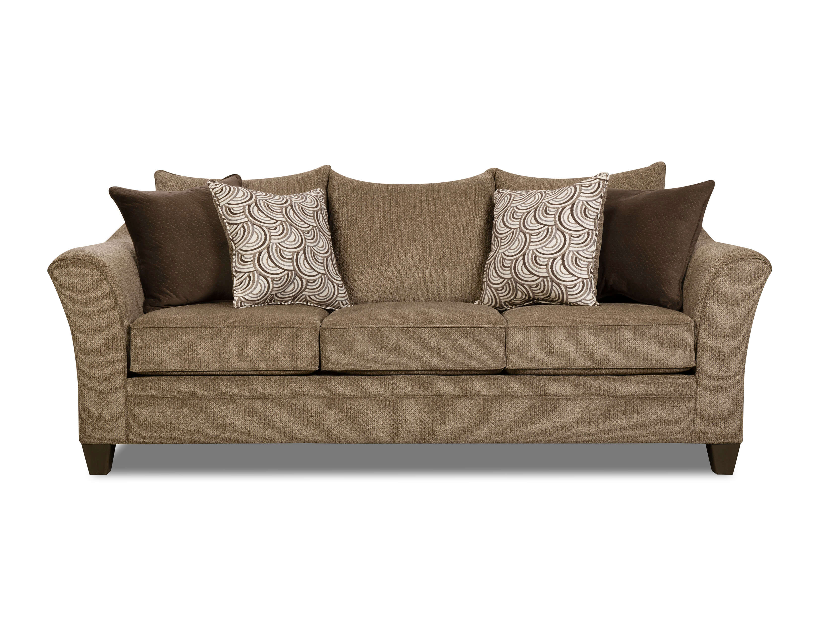Albany Truffle Sofa and Loveseat by Simmons