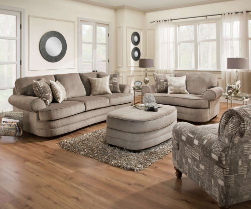 Prime 9255 Kingsley Pewter Sofa Chair 1 2 And Ottoman Set By Simmons Discontinued Caraccident5 Cool Chair Designs And Ideas Caraccident5Info