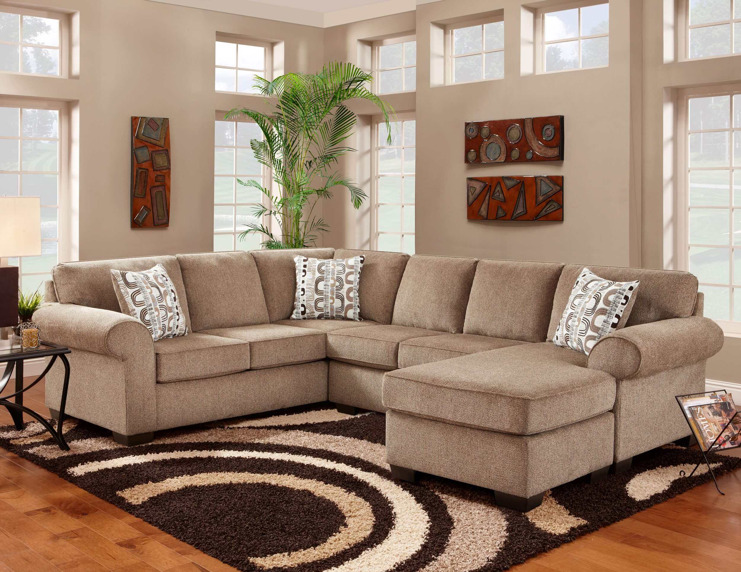 Jesse Cocoa Sectional by Washington
