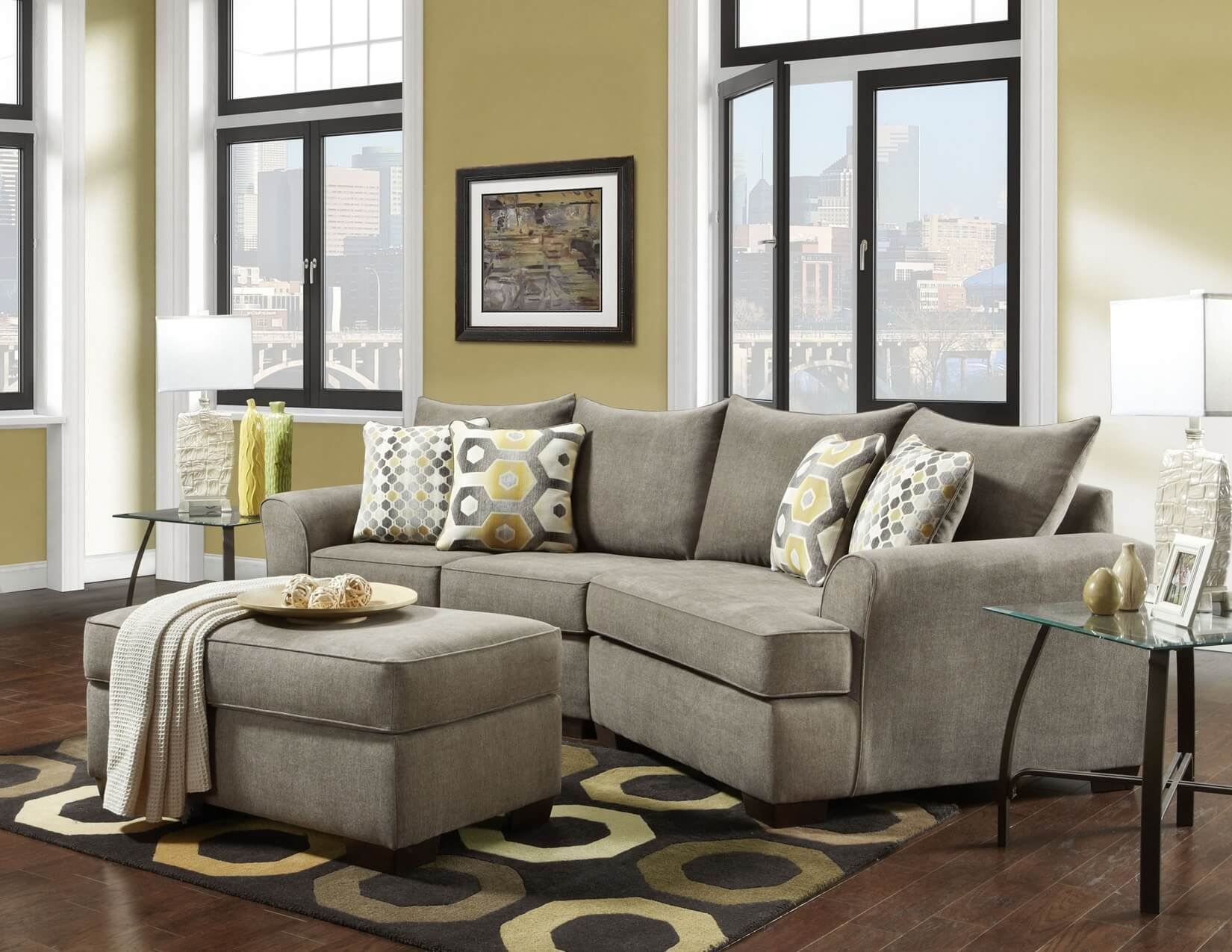 Essence Platinum 2 Pc Cuddler Sectional Sofa Sets