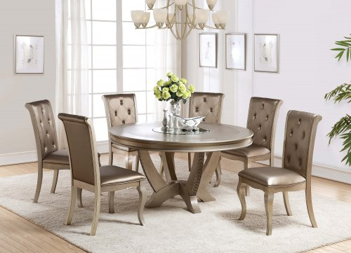 Mina Champagne Dining Room Set