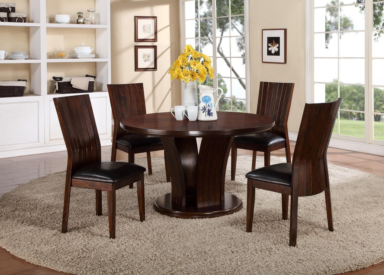 Daria Espresso Dining Set   Dining Sets