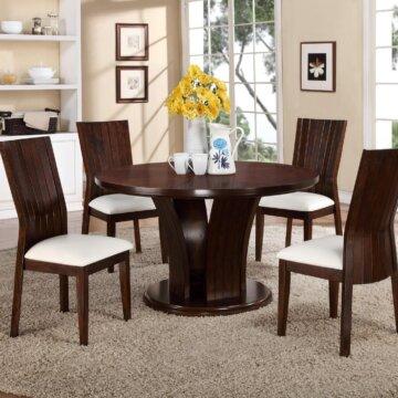 Daria White Dining Set