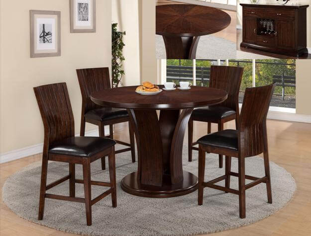 Daria Espresso Counter Height Set