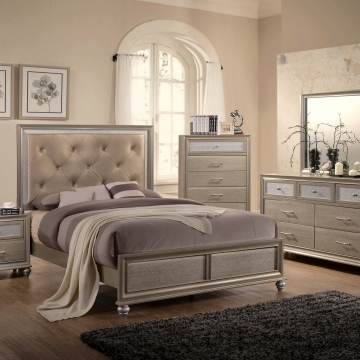 Lila Champagne Bedroom set by Crown Mark