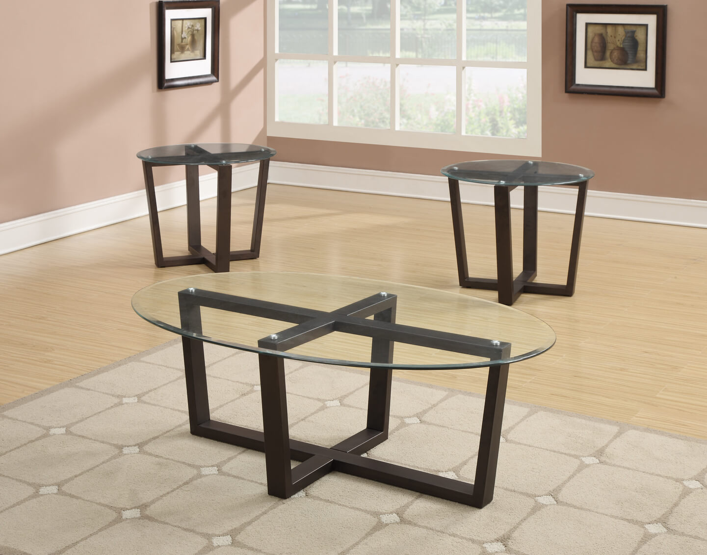 black glass coffee and end table set occasional tables. Black Bedroom Furniture Sets. Home Design Ideas
