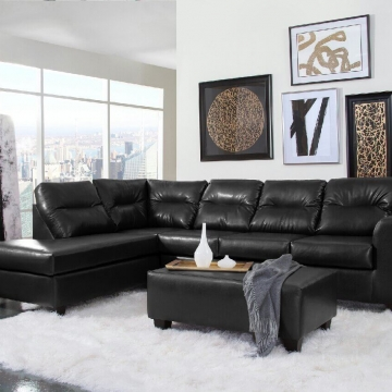 1431 Bravo Black Sectional