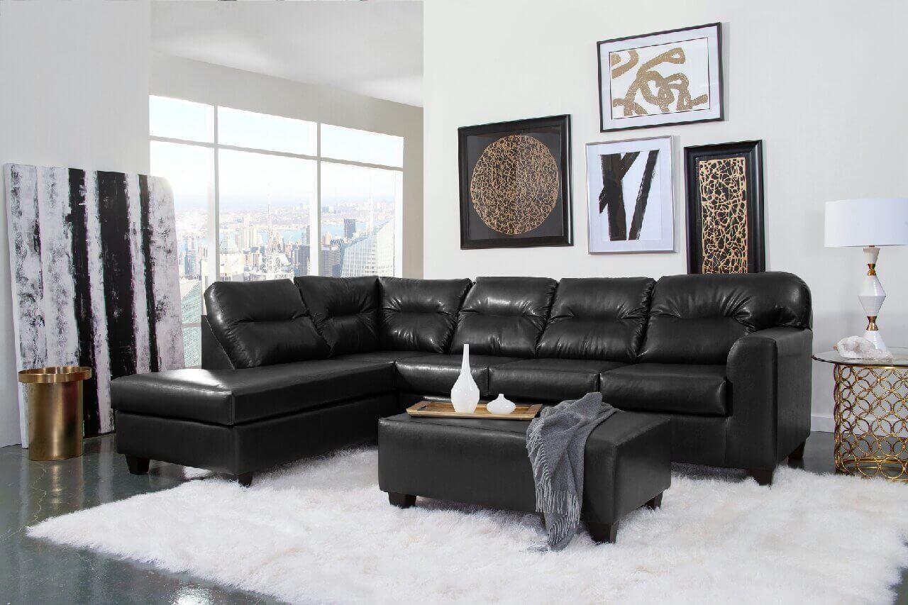 Bravo Black Sectional Sectional Sofa Sets