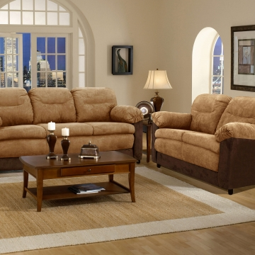 Mocha/Java Sofa and Loveseat