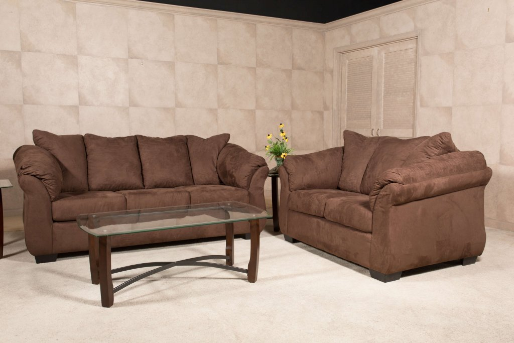 Bulldozer Java Sofa And Loveseat Living Room Sets