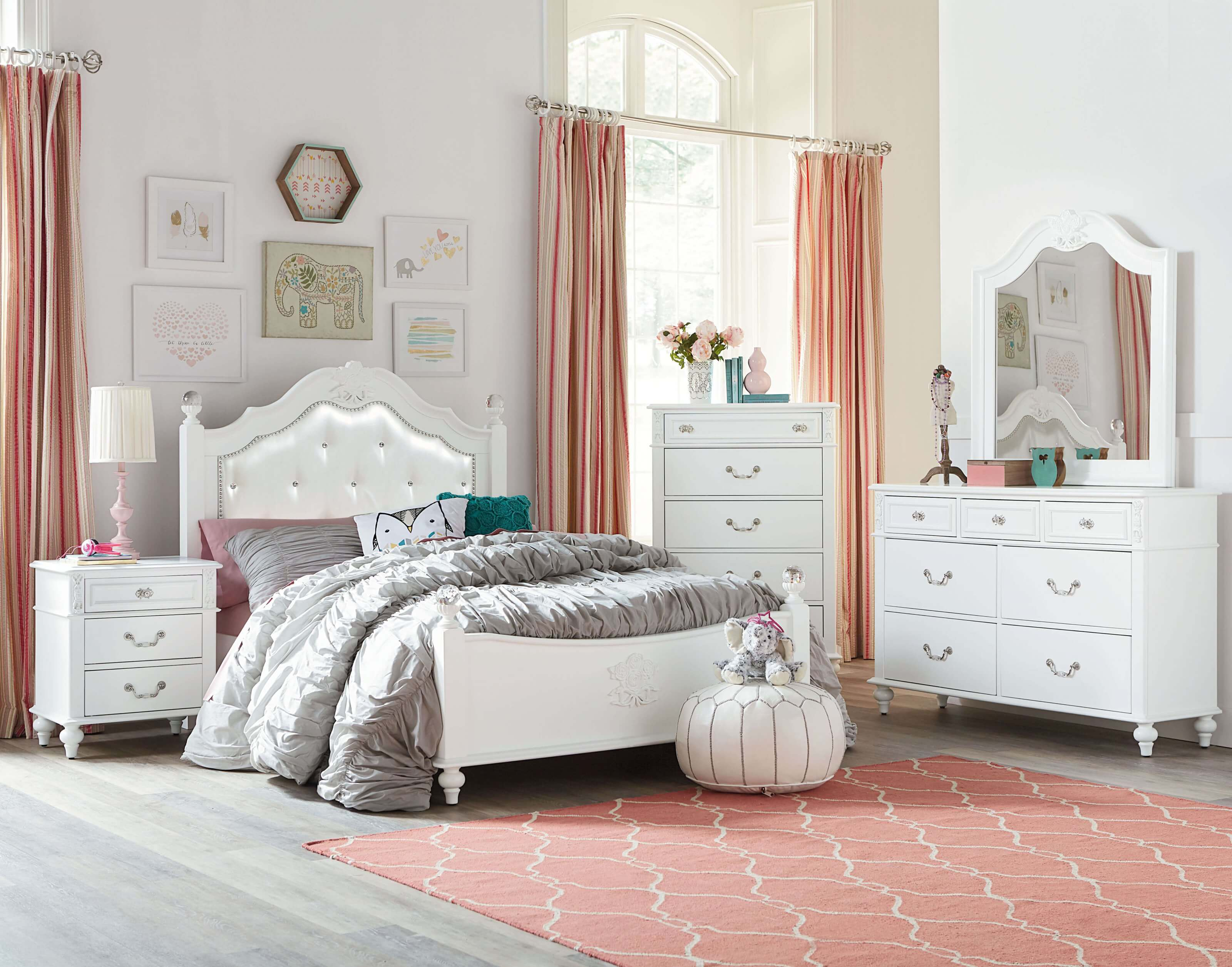 Olivia White Bedroom Set by Standard Furniture