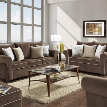 Spellbound Fudge Sofa and Loveseat