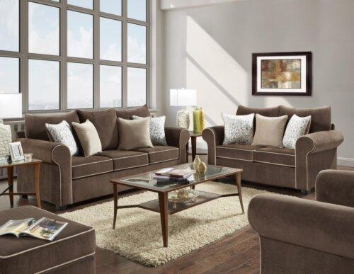 Spellbound Fudge Sofa and Loveseat
