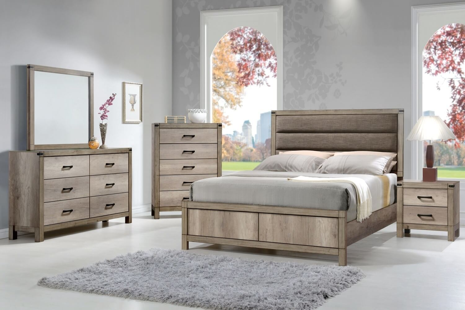 Matteo rustic bedroom set by crown mark bedroom furniture for Great bedroom furniture