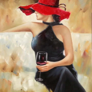 Lady with Wine Glass