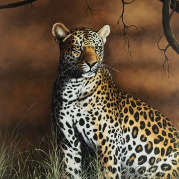 Proud Leopard Framed Art
